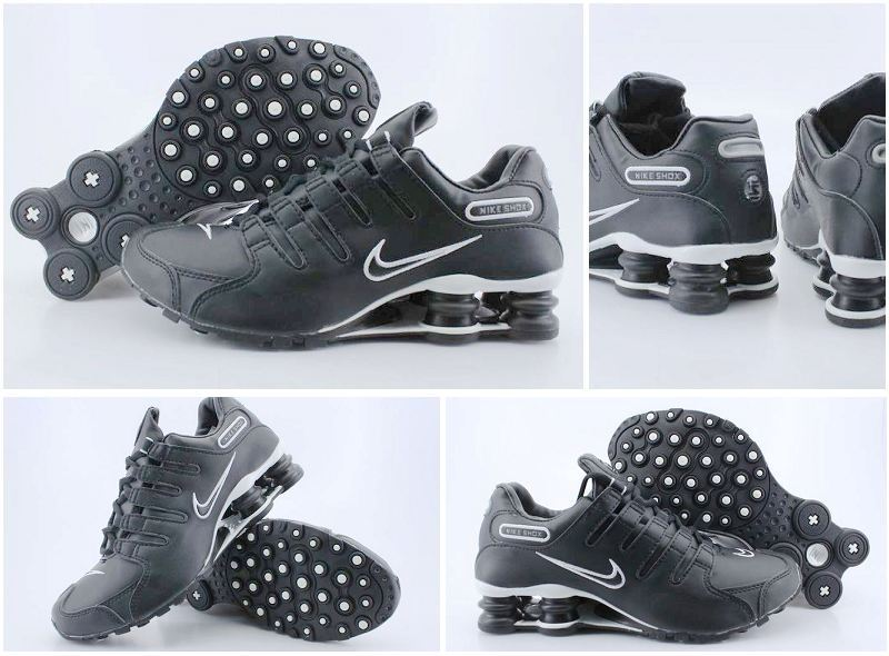 Shox NZ All Black Silver Shoes