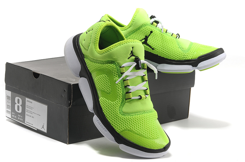 2013 Women Jordan Running Shoes Green Black White