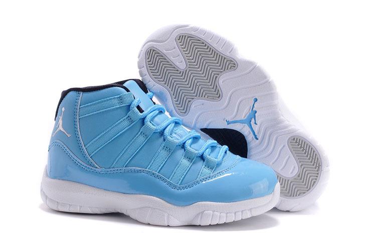 cc914240148 2014 Kids Air Jordan 11 Retro Blue White Shoes Brand New Condition