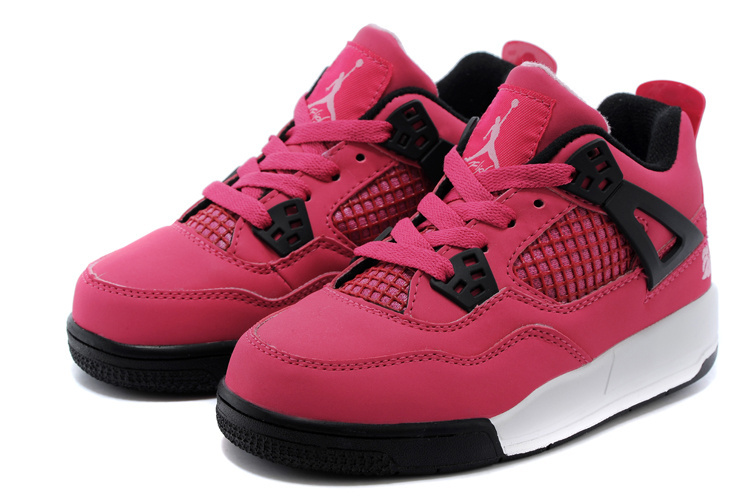 save off da625 65dd6 2014 Kids Air Jordan 4 Retro Pink Black White Shoes