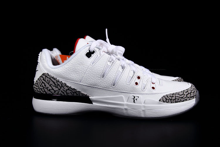 f1e240c7e49 2014 Zoom Vapor Air Jordan 3 White Grey Cement Tennis Shoes