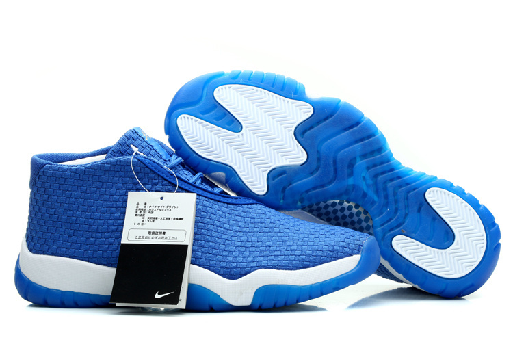 2014 Womens Jordan Future Glow Blue White Shoes
