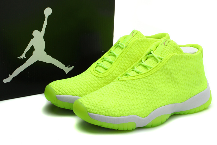 2014 Womens Jordan Future Glow Fluorescent Green White Shoes