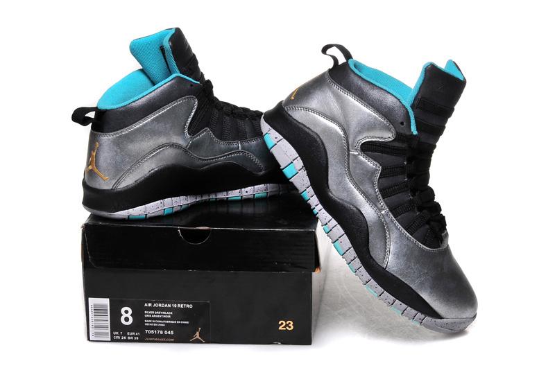 online store c897a e3770 2015 Air Jordan 10 Retro Bulls Over Broadway Silver Black Blue Shoes