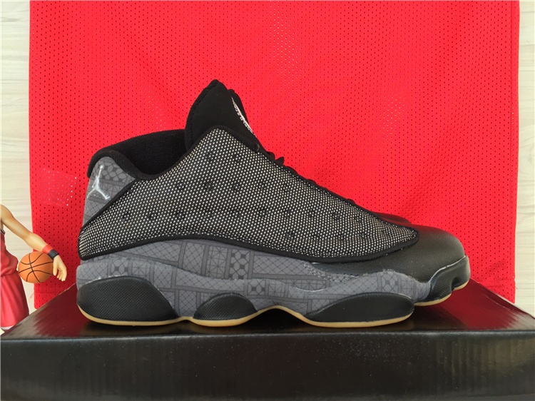 2015 Air Jordan 13 Low Retro Black Orange Shoes