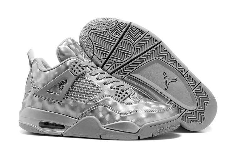 2015 Air Jordan 3D MATRIX 3D Grey Silver Shoes