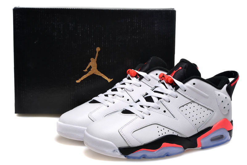 New Arrivial Air Jordan 6 Low Pure White Black Pink Shoes  WOMEN862 ... 4a715712b