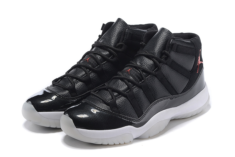 2015 Hot Air Jordan 11 Retro Black White Orange Jumpman