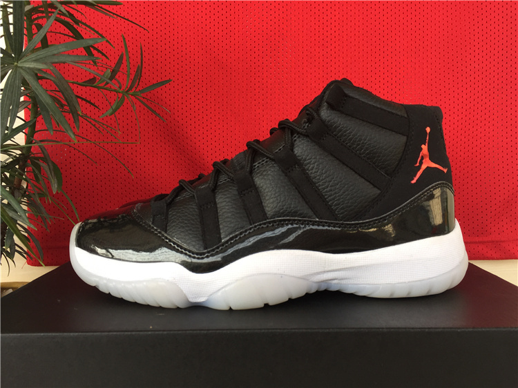 2015 Hot Air Jordan 11 Retro Black White Red Jumpman  WOMEN1549 ... 9e22fa8ba