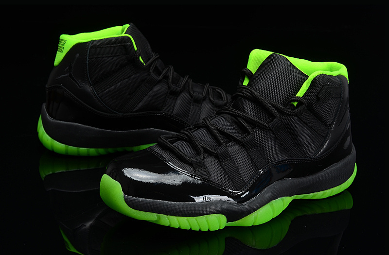 pretty nice 703b3 0573b Cheap 2015 Jordan 11 Retro Days Of Flight Black Green Shoes ...