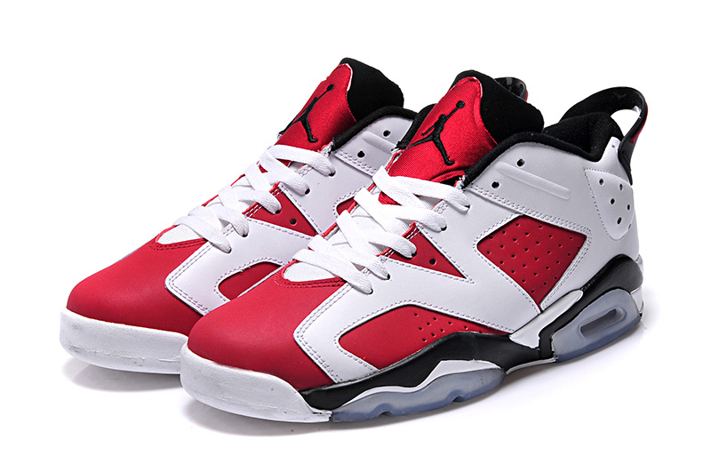 795233888c8f7 2015 Women Jordan 6 Low Red White Black Shoes  WOMEN301  -  87.00 ...