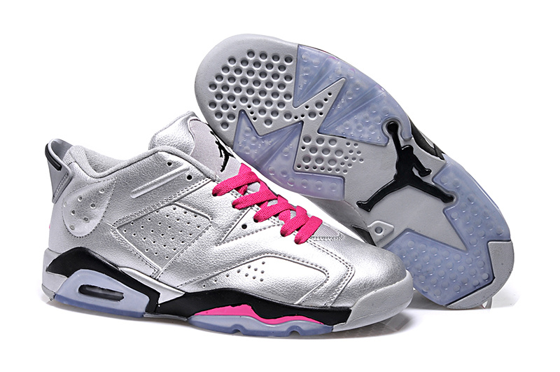 042b2502288b 2015 Women Jordan 6 Low Silver Pink Black Shoes  WOMEN302  -  87.00 ...