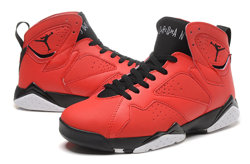 2015 Jordan 7 Retro Red Black Shoes
