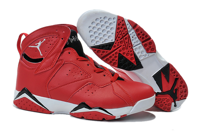 2015 Jordan 7 Retro Red White Black Shoes