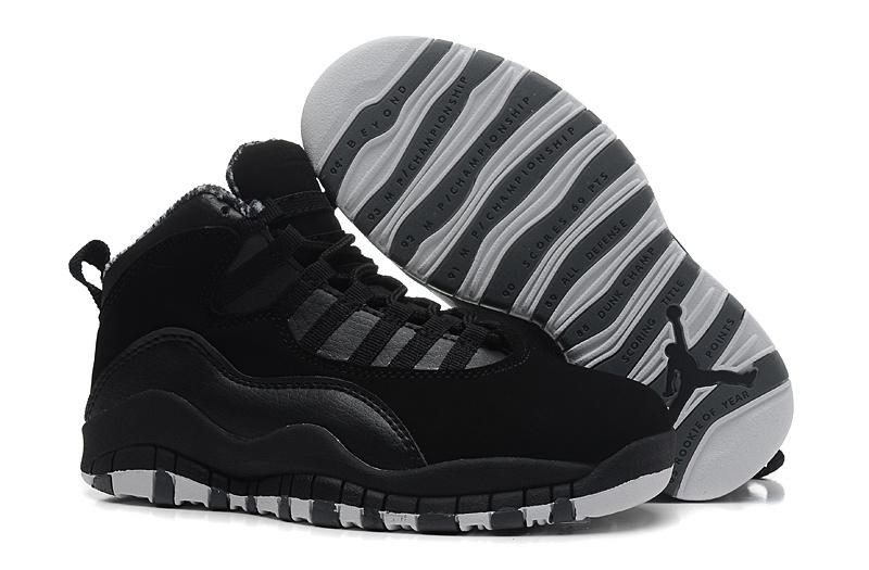 2015 Kid Jordan 10 All Black Shoes