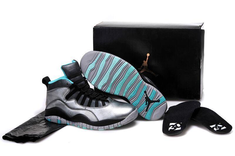 610ee8df45c 2015 Kid Jordan 10 Silver Black Shoes
