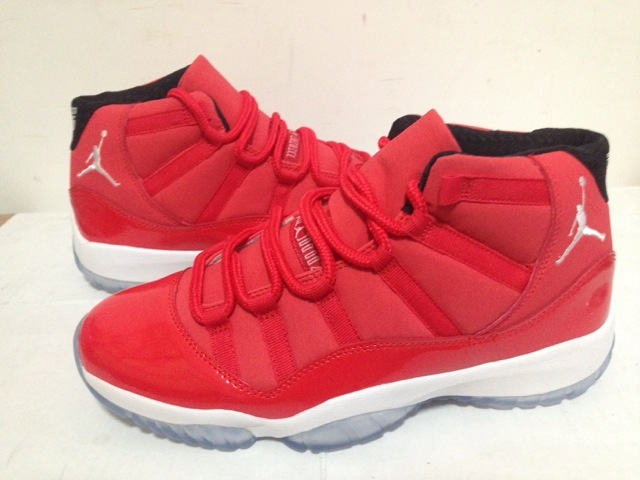 2015 Retro Jordan 11 Toro Red White Sole Shoes