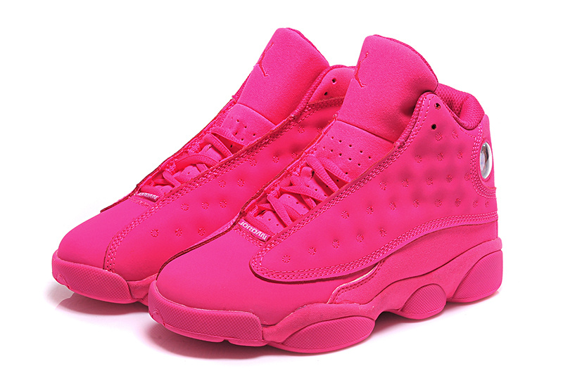 2015 Women Air Jordan 13 Retro All Pink Shoes