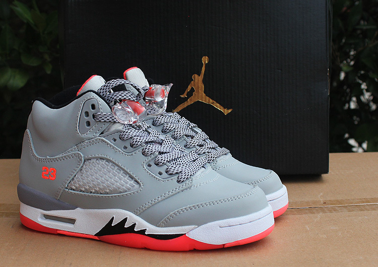09aafd4f9b1f 2015 Women Air Jordan 5 Hot Lave Grey Pink Shoes