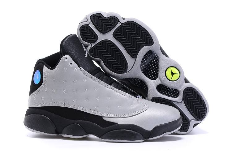 2016 Air Jordan 13 Retro Charity Grey Black Shoes