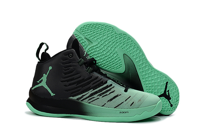 sports shoes b1075 446a5 2016 Men Jordan Super Fly 5 Black Light Green Basketball Shoes