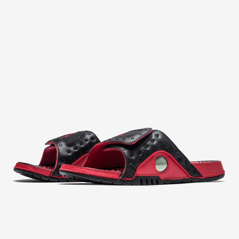 25bdfb0b5 2017 Men Air Jordan Hydro 13 Sandals Bred Black  18women5702 ...