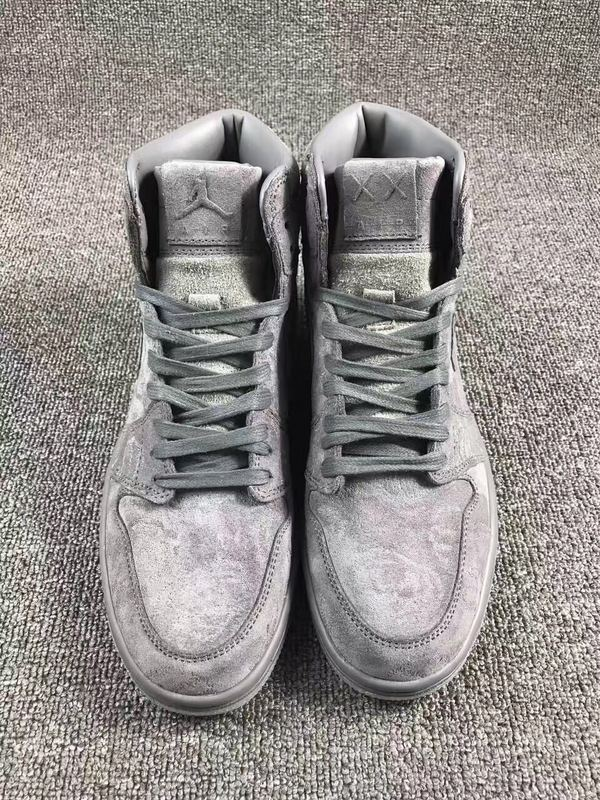 2017 Men KAWS x Air Jordan 1 Cool Grey Shoes