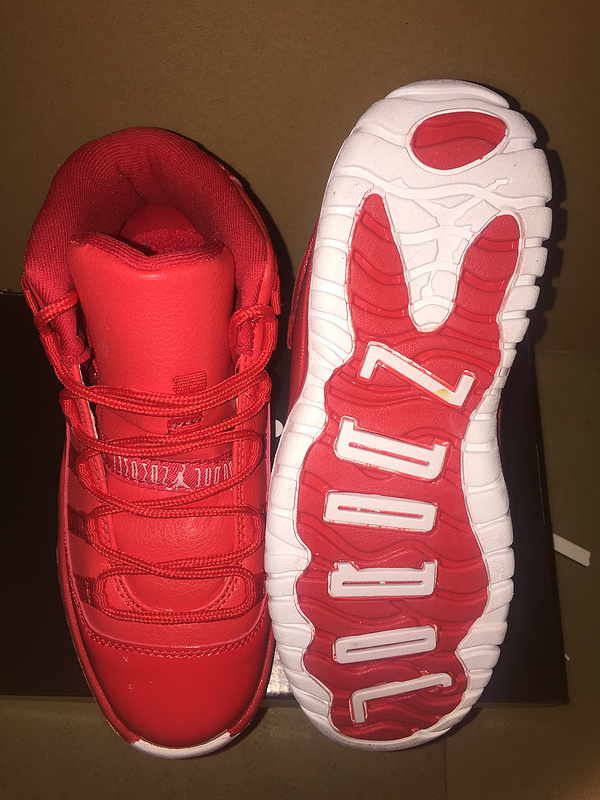 2017 Air Jordan 11 Retro Red White Shoes For Kids