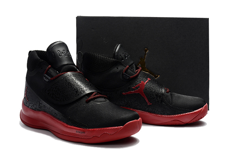 2017 Air Jordan Super Fly 5 Black Red Shoes