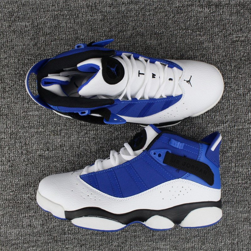 2017 Air Jordan VI Rings Blue White Black Shoes