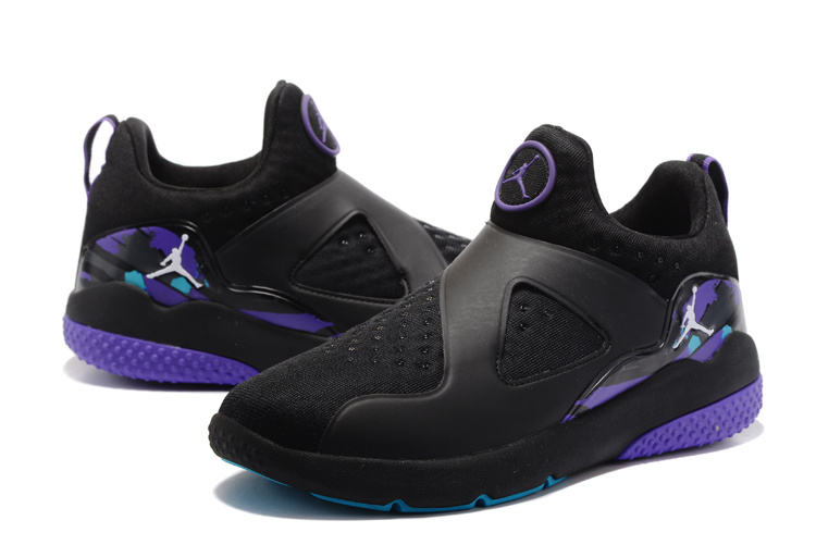 2017 Jordan 8 Training Shoes Black Purple