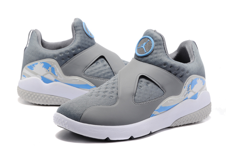 2017 Jordan 8 Training Shoes Grey Light Blue White