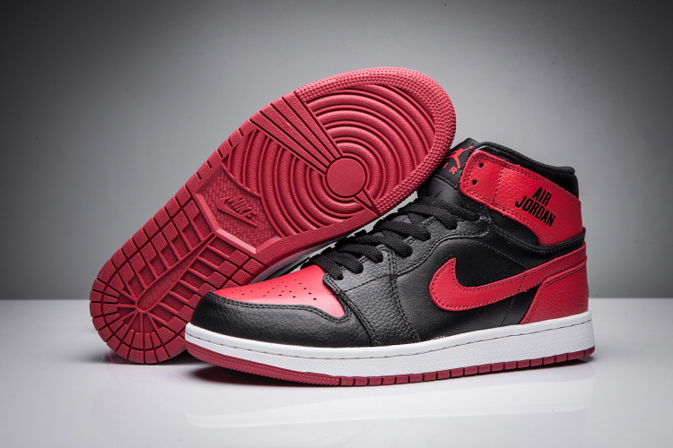 2017 Men Jordan 1 Disappearing Wing Black Red Shoes