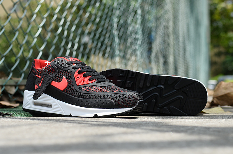 2017 Men Air Max 90 Black Reddish Orange Shoes