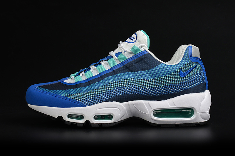 2017 Men Air Max 95 Jacquard Royal Blue Shoes