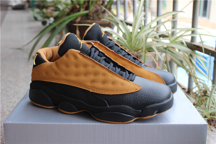 2017 New Jordan 13 Low Chutney Yellow Black Shoes