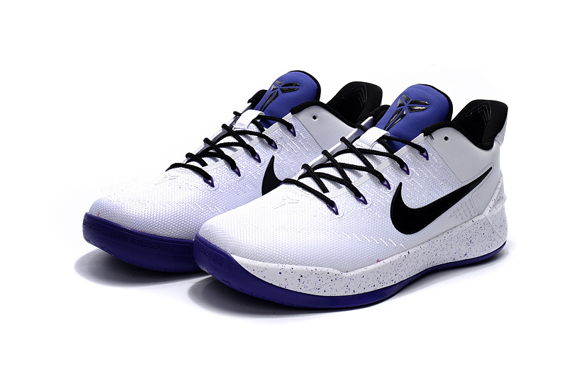 2017 Nike Kobe 12 AD White Blue Shoes