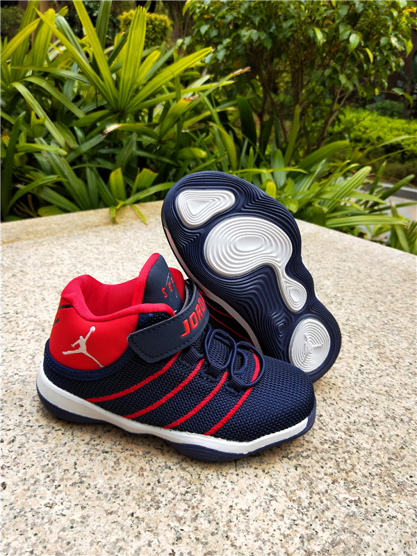 2018 Air Jordan Mesh Blue Red Shoes For Kids