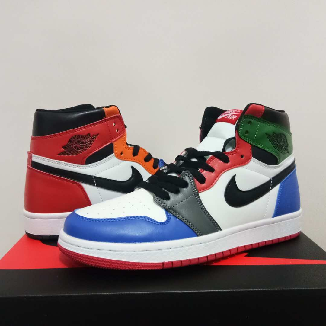 2018 Air Jordan 1 Rianbow Colorful Shoes