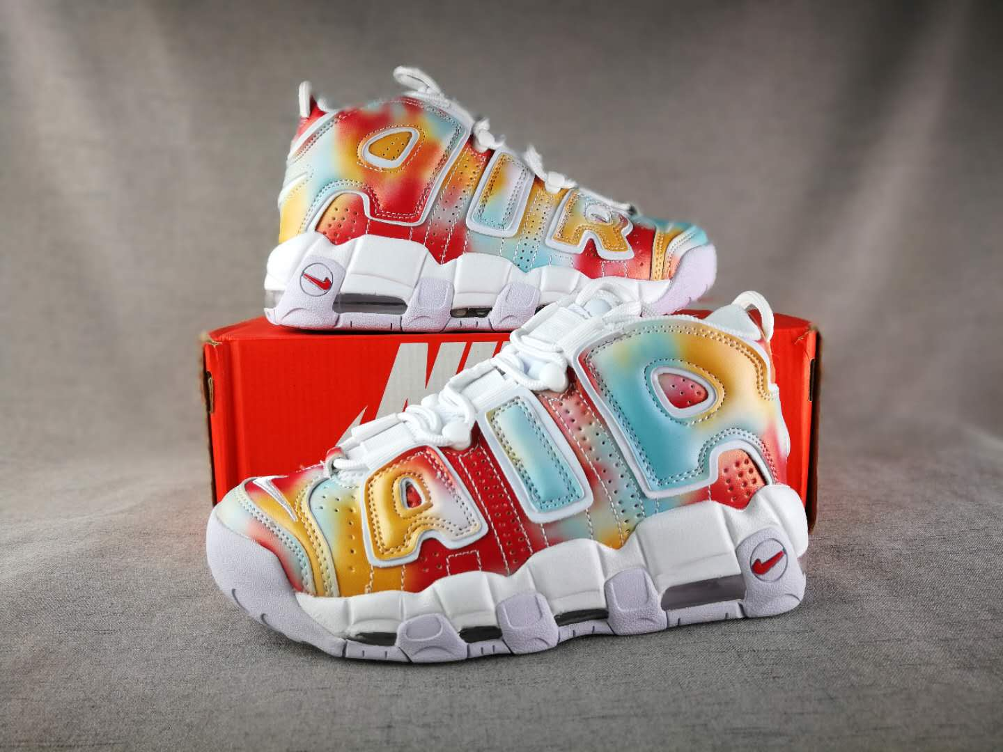 2018 Women Nike Air More Uptempo EU City Colorful Shoes