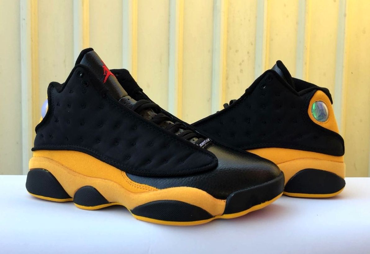 2018 Men Air Jordan 13 Black Yellow Red Shoes