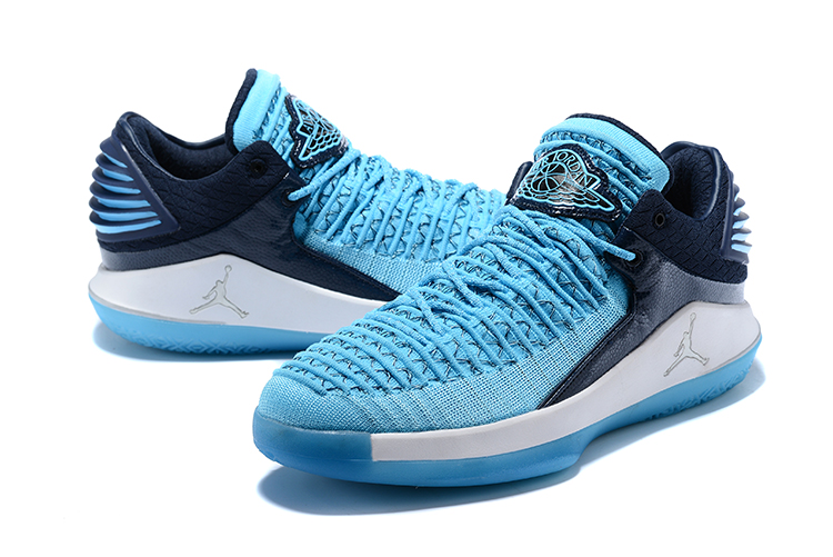 2018 Men Air Jordan 32 Jade Blue White Shoes