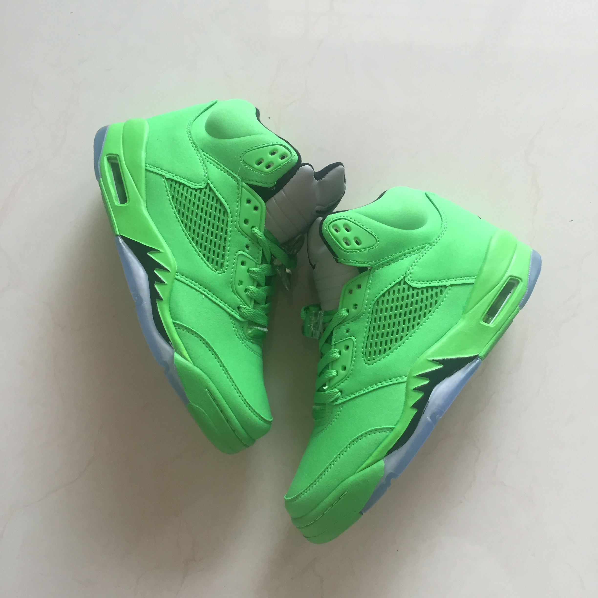 new style 18b8e 8ab6d 2018 Men Air Jordan 5 All Green Shoes [18women51102 ...