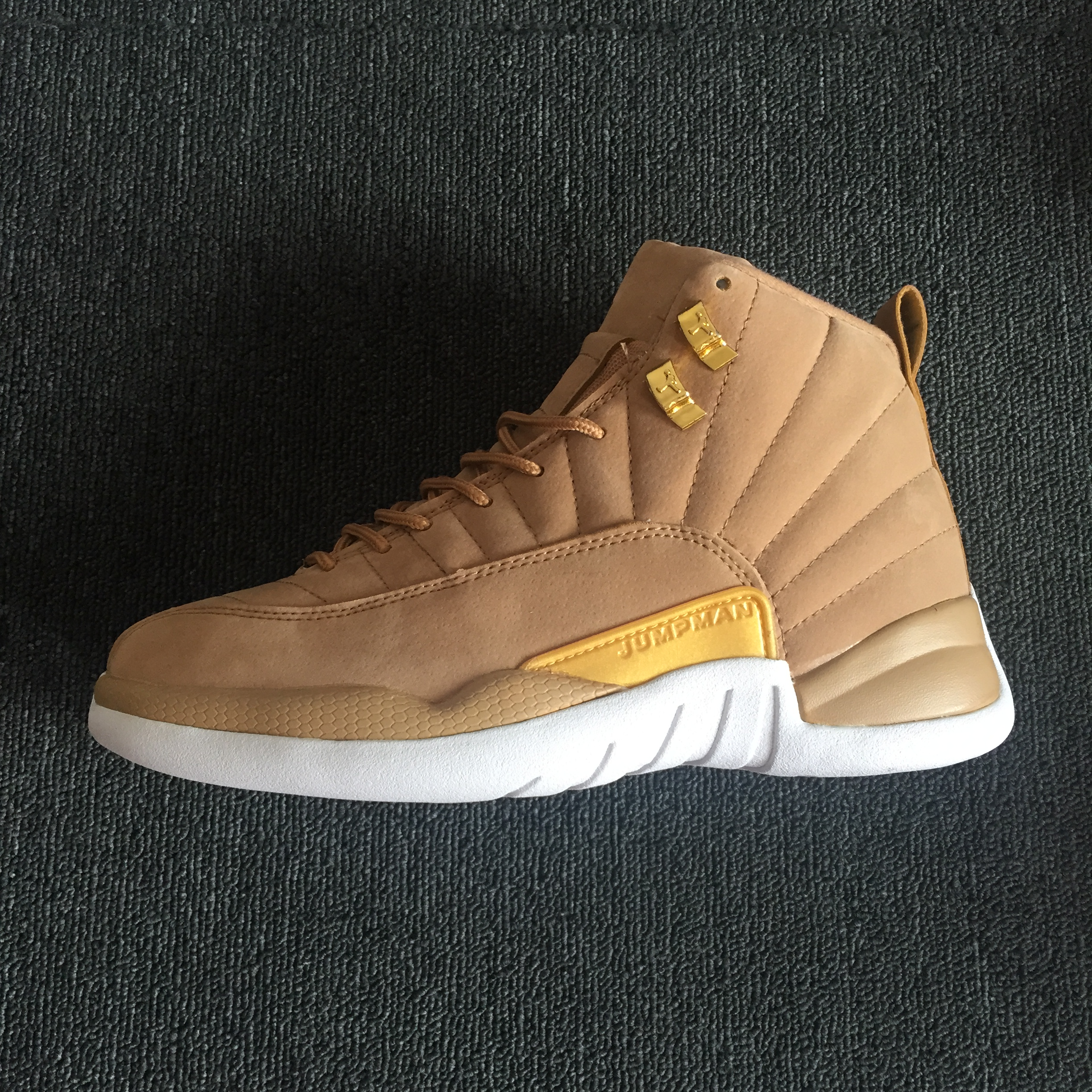 on sale 3a4dc 98c8a 2018 Men Jordan 12 Wheat Yellow Gold Shoes [18women5616 ...