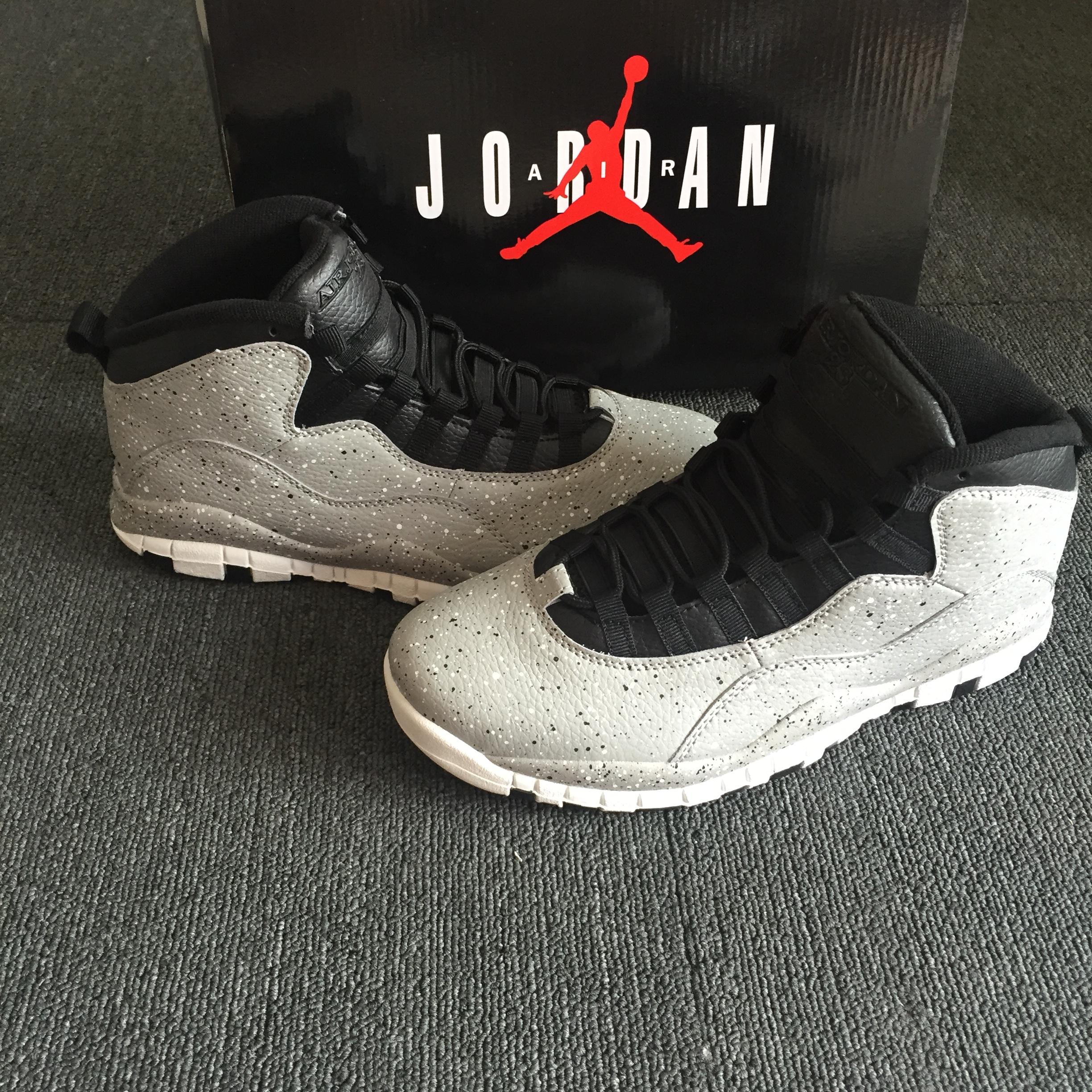 2018 Men Jordan 10 Grey Black Shoes