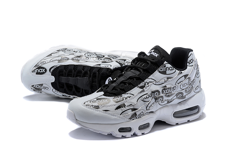2018 Men Nike Air Max 95 Black Grey Running Shoes