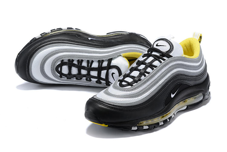 2018 Men Nike Air Max 97 Black Grey Yellow 469d4398e2