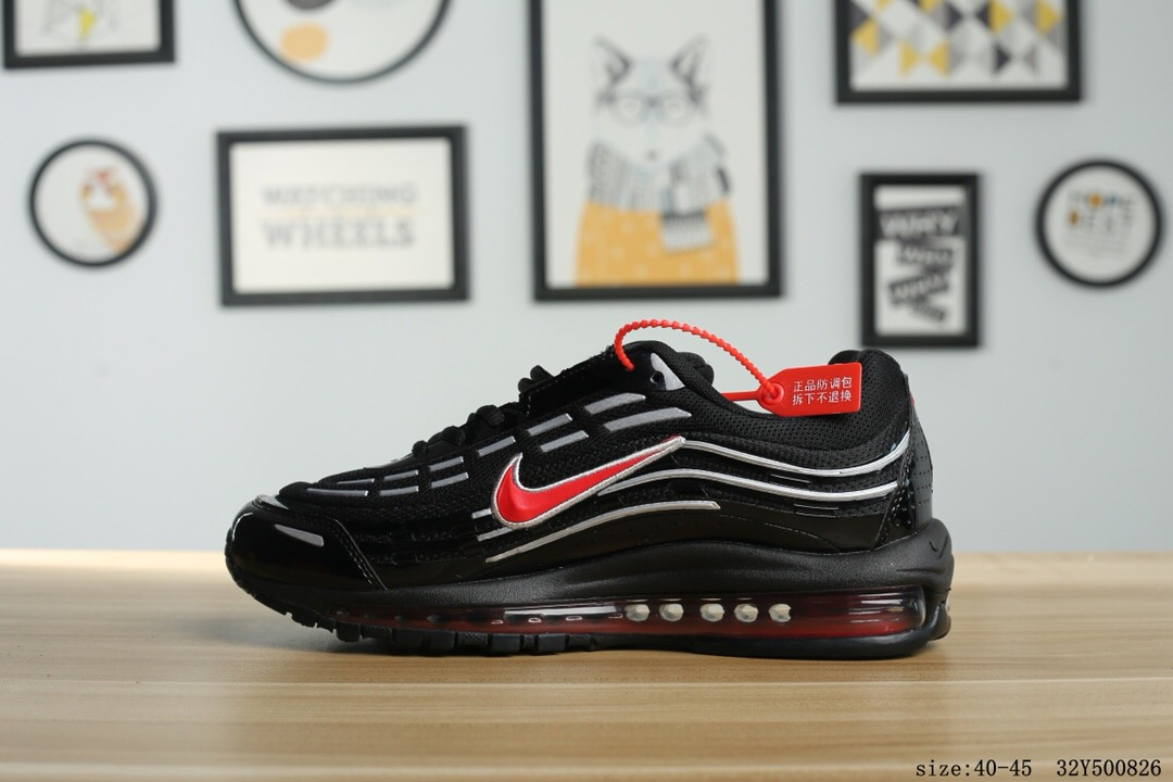 2018 Men Nike Air Max 97 Black Red White Running Shoes