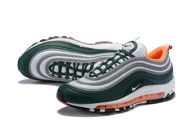 2018 Men Nike Air Max 97 Green Grey Orange