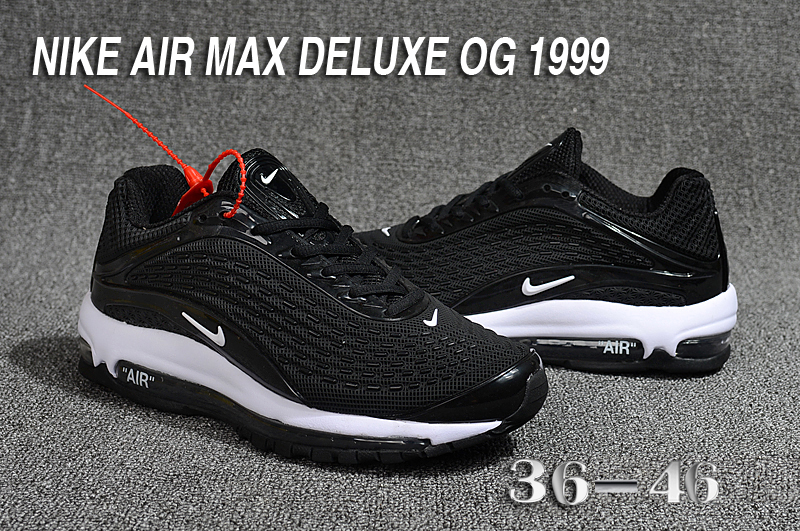 2018 Women Nike Air Max Deluxe OG 1999 Black White Shoes